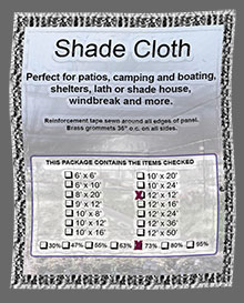 Prefabricated Woven Shade Cloth ?>